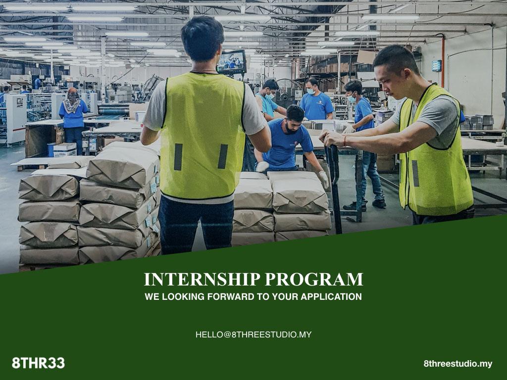 Internship Program with 8Three in year 2020